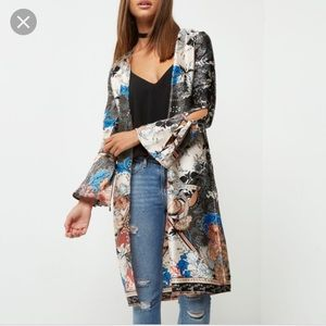 ASOS Jackets & Coats - Super pretty silky kimono with tie sleeve!
